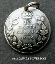 "1932 SILVER CANADIAN ""GREAT DEPRESSION"" DIME 87 YEARS OLD   CANADA SHIP$1.99 US"