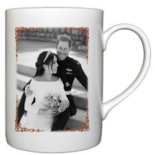 HRH Prince Harry & Ms Meghan Markle Wedding Day Black & White - Bone China Cup