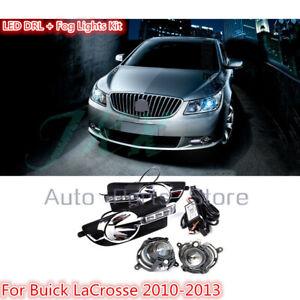 LED DRL Daytime Running Lamp Driving Fog Light Kit For Buick Lacrosse 2010-2013