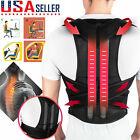 Adjustable Back Posture Shoulder Corrector Support Brace Belt Therapy Women Men