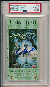 Brett Favre GB Packers Signed Super Bowl XXXI Ticket Stub ~ PSA/DNA Auto Mint 9