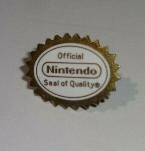 1992 Seal of Quality Pin Nintendo Pinback RARE Vintage Employee Promo RARE!!!