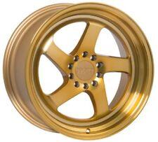 F1R F28 18X8.5 5X112/114.3 +45 Machine Gold Wheels Fits VW cc eos golf jetta gti