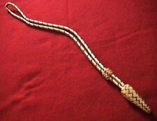ARTILLERY GOLD & MAROON (SCARLET) ACORN SWORD KNOT -FANTASTIC LOOK ON ANY SWORD!