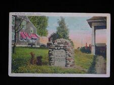 Antique POSTCARD c1924 Mile Stone Marker DANBURY, CT