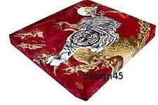 Solaron Korean Blanket throw Thick Mink Plush twin size Crouching Tiger Licensed