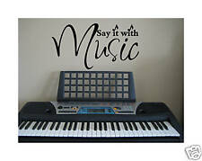 Music home decor decal saying wall art lettering vinyl