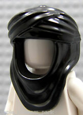 NEW Lego Minifig BLACK KEFFIYEH HEAD WRAP -Prince of Persia Minifigure Hood 7573