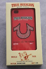 TRUE RELIGION WORLD TOUR CANDY APPLE RED CRYSTALS IPHONE CASE 4/4S NWT