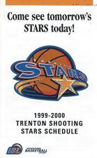 1999-00 Trenton Shooting Stars IBL Basketball Schedule - WBL CBA ABA #FWIL