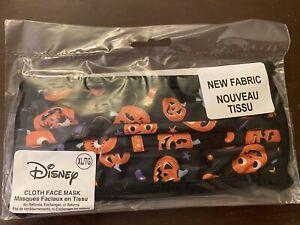 Disney Parks 2020 HALLOWEEN TREATS MICKEY  Cloth Face Mask Adult XLARGE New!