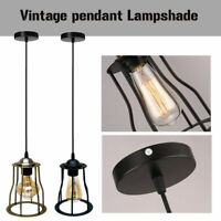 Vintage Industrial Loft Style Metal Cage Ceiling Pendant Light Lamp Shades