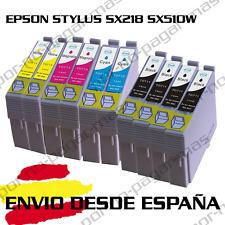 10 CARTUCHOS DE TINTA COMPATIBLE NON OEM EPSON STYLUS SX218 SX510W T0711/2/3/4