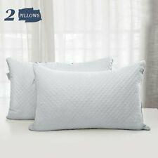 White Ultra Soft Pillows for Sleeping 2 Pack Luxury Bed Pillows Queen King Size