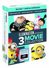 Despicable Me 1-3 Trilogy Blu-Ray Box Set BRAND NEW Free Ship