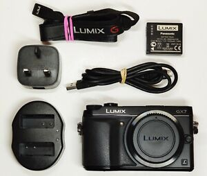 Panasonic LUMIX DMC-GX7 16.0MP Digital Camera - Black (Body Only) BOXED