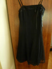 Lovely PORTMANS black lace panel dress with adjustable straps (size 6)