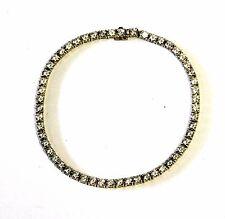 14k yellow gold womens cubic zirconia tennis bracelet 8.8g vintage CZ estate