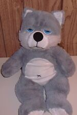"Large 20"" Goffa Int. Plush Siberian Husky Dog with Attitude, Retired & HTF"