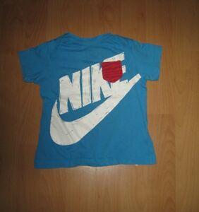 🛸 Nike T Shirt Unterhemd Größe 80/86/12-18 Monate blau Baumwolle guter Zustand