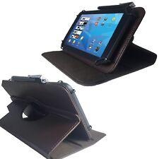 Borsa Tablet Per Alcatel One Touch Pixi 3 Guscio Astuccio Marrone 10.1 pollici 360
