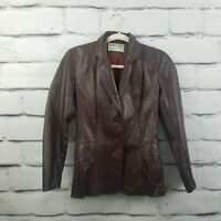 Retro Vintage Northside Fashions Womens Sz 5 Genuine Leather Jacket Coat Maroon