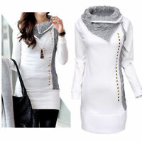 New Women Long Sleeve Hoodie Sweatshirt Jumper Sweater Pullover Top Coat Winter