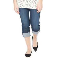 Oh baby by Motherhood Maternity Womens Dark Wash Capris Jeans Summer Sz S NWT