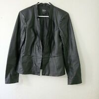 BEBE Womens Genuine Leather Black Motorcycle Moto Jacket Size Large