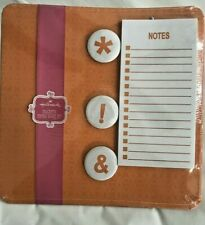 HALLMARK Magnetic Memo Board Set with Magnets and Note Pad- Brand New