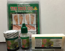Pomada,Jabon & Gotas Tea Tree Oil Formula Feet Nails Fungus Hongos en Uñas Pies