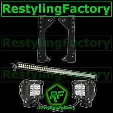 "JEEP TJ 97-06 Wrangler 50"" LED LIGHT BAR+3"" LED Spot Adjustable+Mounting Bracket"