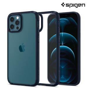 iPhone 12 Pro, 12 Case, Spigen Ultra Hybrid Protective Cover - Navy Blue