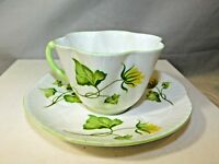 Vintage CELANDINE Shelley Coffee Cup & Saucer Floral Bone China England