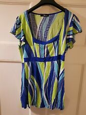 Ladies Blue / Green Top, Size 12, Jane Norman