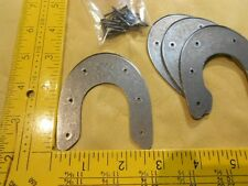 "Metal ""Army Rim"" Heel Plates Size #9/10 - 2 Pair Inc.s Nails - Reduce Heel Wear"
