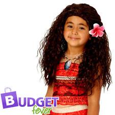 Moana Wig Kids Fancy Dress Disney Princess Book Film Girls Costume Wig Accessory
