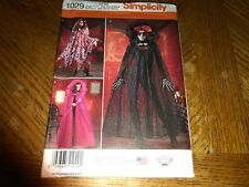 Simplicity Pattern 1029 Misses DAY OF THE DEAD Hooded Capes 3 Styles - One Size