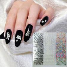 1 Set 50 Sheets 3D Design Self-adhesive Tip Nail Art Stickers Beautiful Women