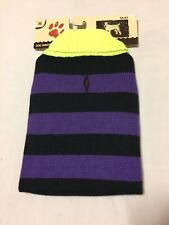 New listing Cozy Pet Dog Sweater, Ribbed Hem, Turtleneck, Warm Knitwear Purple/Black Size M