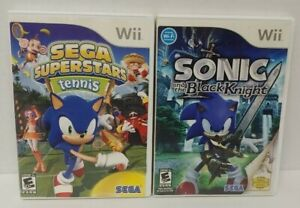 Nintendo Wii Wii U Games LOT Sonic Black Knight + Superstars Tennis  - Working