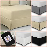 "Queen King Size Bed Skirt 15"" Wrinkle Free Full Twin Bedding Accessories Bedroom"