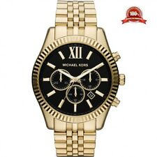 Edición limitada de caballero MK8286 Michael Kors Lexington Cronógrafo Reloj De Oro De Tono Diseñador Redondo