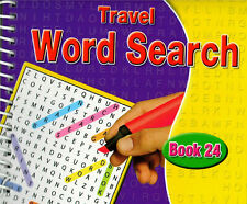 Spiral Bound Word Search Travel Books Kids Adults 170 Puzzles Book 24 - 3090