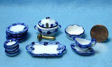 Dollhouse Miniature Dinnerware Set with Plates & Servers 15 Pcs ~ MT705