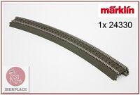 H0 escala 1:87 ho maqueta trenes via C curva R3 = 515mm 30° 1x Märklin 24330