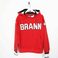 Vintage KAPPA Brann Big Logo Hoodie Sweatshirt Red | Small S