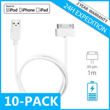10IN1 30-PIN FAST CHARGEUR CHARGER DATA CABLE 1M IPHONE 3G 3GS 4 4S IPAD IPOD
