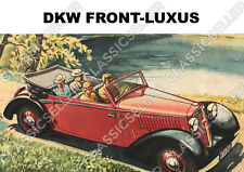 DKW Front-lujo Front carro f2 f4 f5 f7 f8 cabriolet póster cartel imagen publicitarias