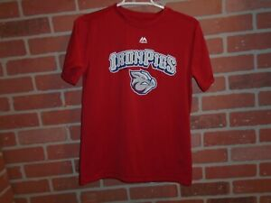 LEHIGH VALLEY IRONPIGS #9 JERSEY TSHIRT YOUTH LARGE BY MAJESTIC EVOLUTION